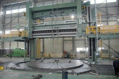 "1 – USED 300""/354"" NILES DOUBLE HOUSING 4-AXIS CNC VERTICAL BORING MILL"