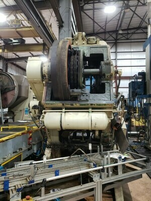 1 - USED 150 TON BLISS BACK GEARED OBI PRESS