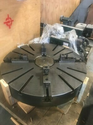 "1 - USED 49"" DIAMETER HEAVY DUTY 4-JAW CHUCK"