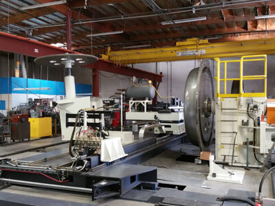 """1 - USED 250"""" MJC CNC DOME SPINING FORMING MACHINE"""