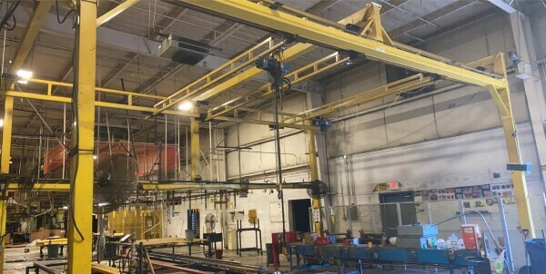 1 - USED FREE STANDING (3) 500 LB. HOIST SYSTEM