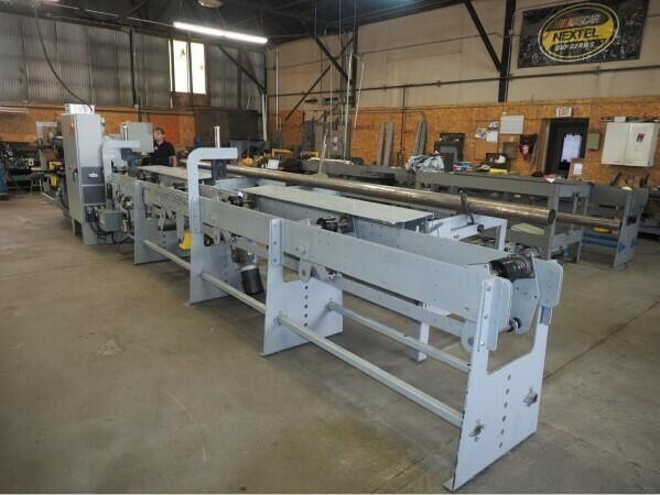 1 - REMANUFACTURED NO. 36 BARDONS & OLIVER CUT-OFF LATHE WITH NEW PLC PROGRAMMABLE CONTROLS & NEW 24' MAGAZINE BAR FEED