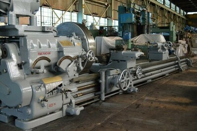 "1 - USED 48""/50"" X 300"" AMERICAN ""SUPER-PRODUCTIVE 48"" ENGINE LATHE"