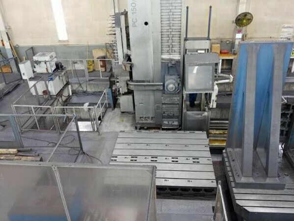 "1 - USED UNION 5.9"" CNC FLOOR TYPE HORIZONTAL BORING MILL"