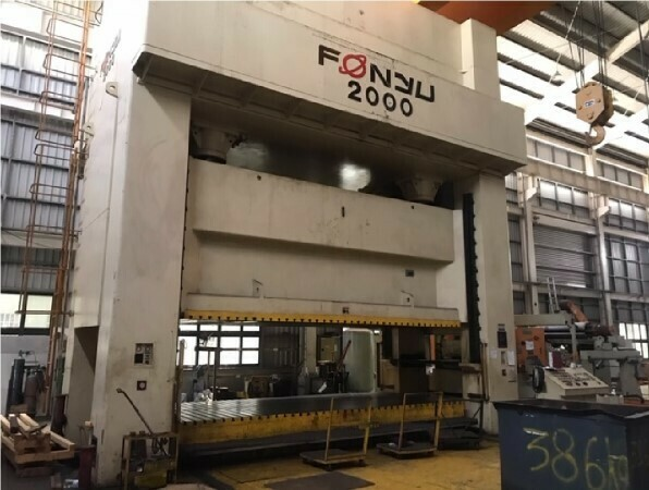 1 - USED 2,000 TON FONYU PRESS BLANKING LINE WITH MOVING BOLSTER