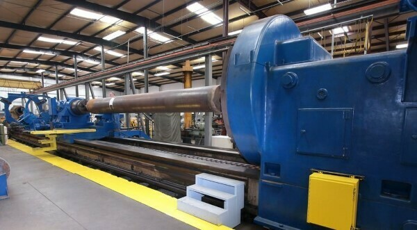 """1 - USED 116"""" X 85' NILES HEAVY DUTY CONVENTIAL LATHE"""