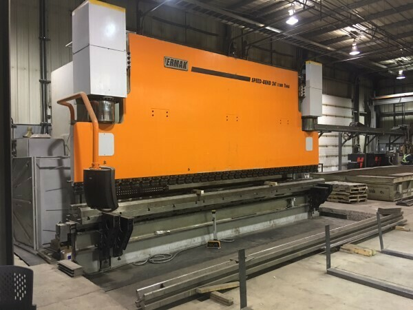 1 - USED 1,100 TON X 24' TON ERMAK CNC HYDRAULIC PRESS BRAKE