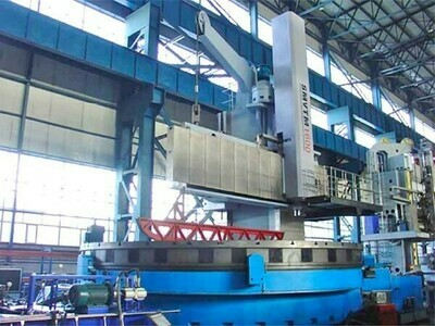 1 - USED 52.5' QIQIHAER SWING CNC SINGLE COLUMN VERTICAL BORING MILL
