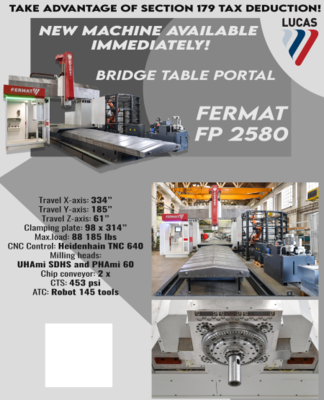 "​1 – NEW 334"" X 185"" FERMAT FP 2580 BRIDGE TABLE PORTAL"