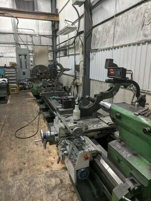 "1 - USED 36"" X 354"" POREBA GAP BED DUAL CARRIAGE LATHE"