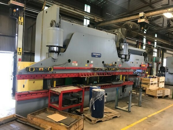 1 - USED 400 TON X 20' CINCINNATI HYDRAULIC PRESS BRAKE