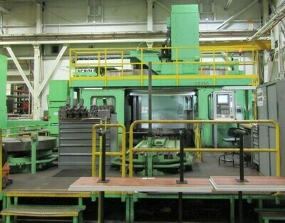1 - USED 1829mm X 1829mm GIDDINGS AND LEWIS CNC VERTICAL TURRET LATHE WITH MILLING