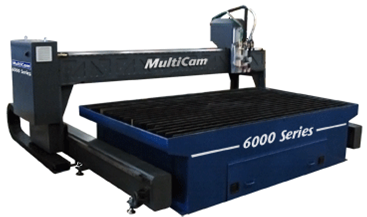 1 – USED 10' X 12' (32)' MULTICAM 6000 SERIES CNC PLASMA