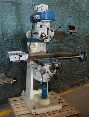1 – USED #645 INDEX VERTICAL MILL WITH DIGITAL READOUTS
