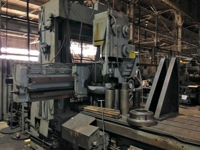 "1 – USED 44"" X 36"" X 120"" INGERSOLL DOUBLE HOUSING, ADJUSTABLE RAIL PLANER MILL"