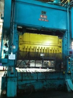 1 - REBUILT 500 TON BLISS STRAIGHT SIDE DOUBLE CRANK  POWER PRESS