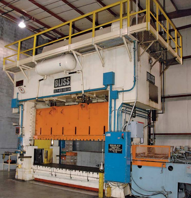 1 - USED 400 TON BLISS STRAIGHT SIDE ECCENTRIC DRIVE PRESS