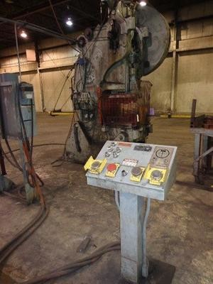 1 – USED 125 TON BLISS FLYWHEEL OBI PRESS, MODEL 28 ½