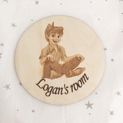 Peter Pan Door Plaque Or Name Disc