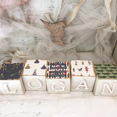Peter Pan Wooden Blocks ~ sold Individually