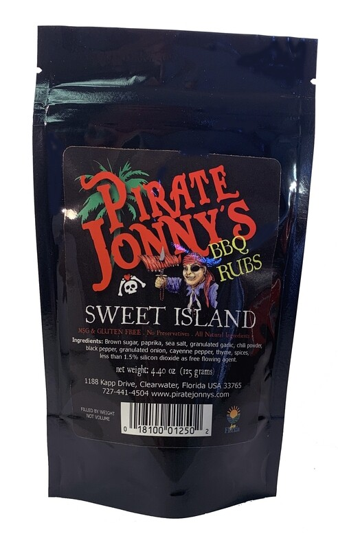 Sweet Island BBQ Rub - 4.4 ounce Pouch