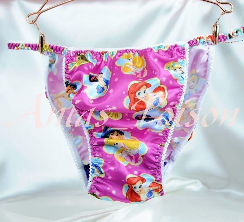 Ania's Poison MANties S - XXL Princess Prints Super Rare 100% polyester string bikini sissy mens underwear panties