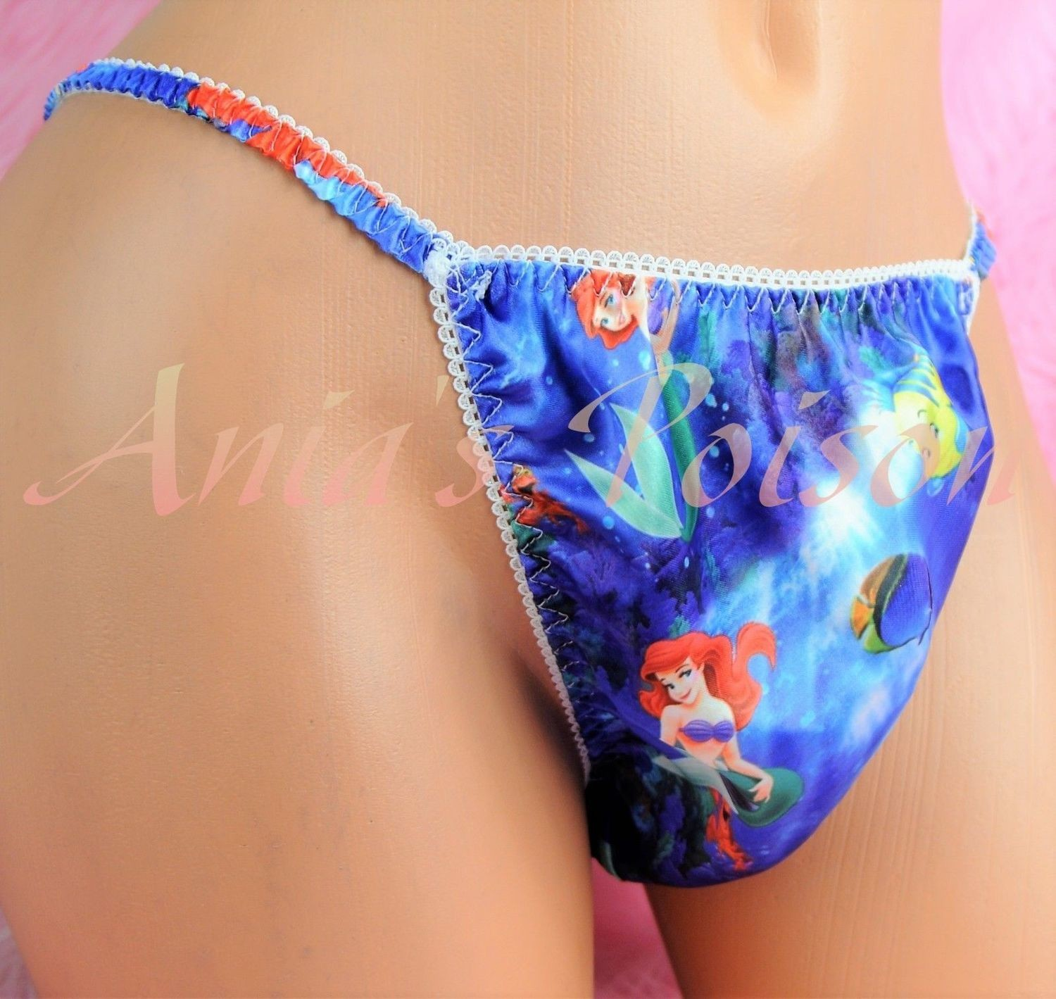 Ania's Poison MANties S - XXL Princess Mermaid Prints Super Rare 100% polyester string bikini sissy mens underwear panties