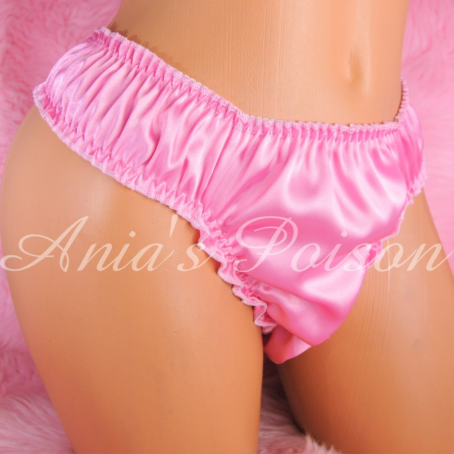 Ultimate ruffled frilly pretty little slave MANties sissy pouch full side thong humiliation exotic panties OS