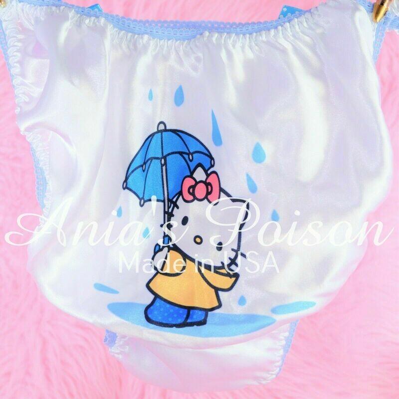 Rare Hello Kitty Different Styles Satin string bikini Mens panties - Sissy Princess