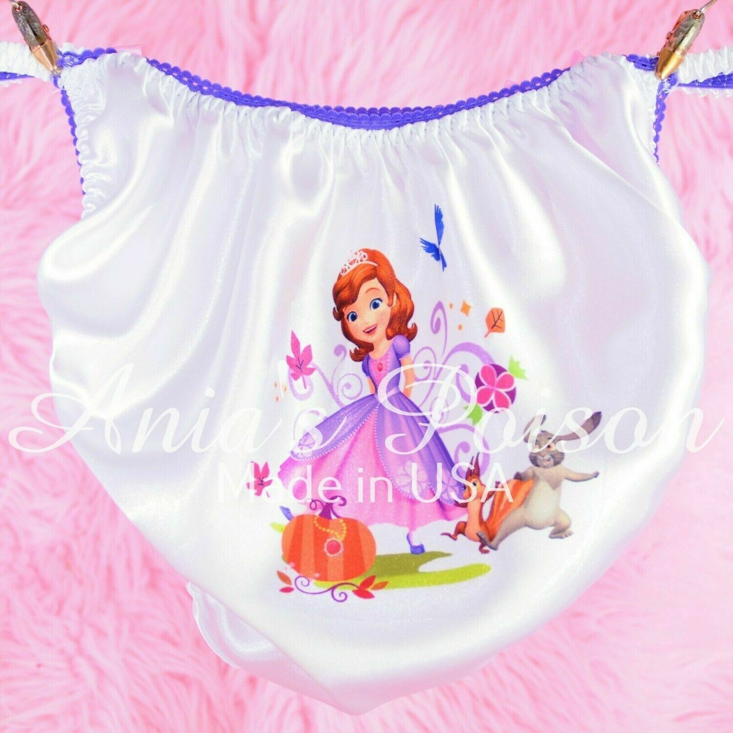 Rare Sophia Purple Princess Several Styles shiny Satin string bikini Mens panties - Sissy Princess