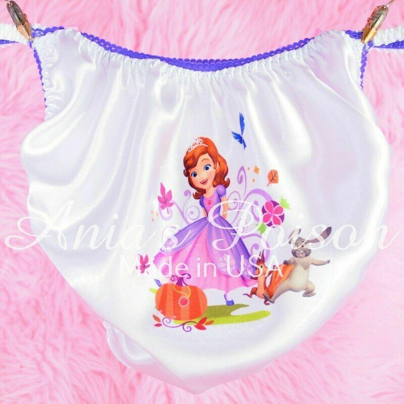 Rare Sophia Purple Princess Several Styles shiny Satin string bikini Mens panties - Sissy Princess