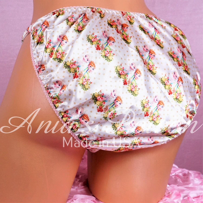 Ania's Poison Spider Hero superhero Print 100% polyester silky soft string bikini sissy mens underwear panties