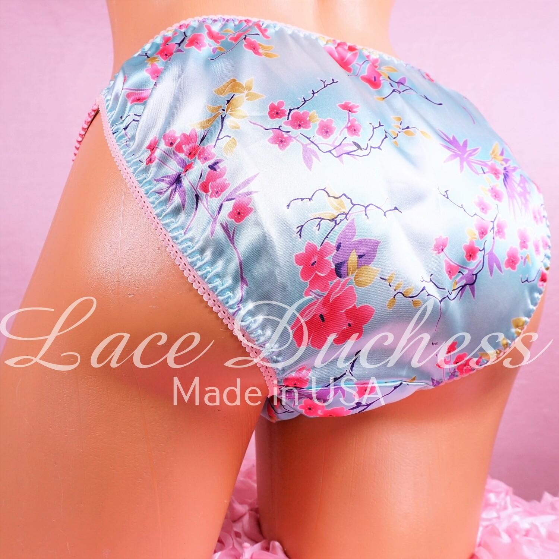 Lace Duchess Classic 80's cut satin New Asian Print ladies sz 7