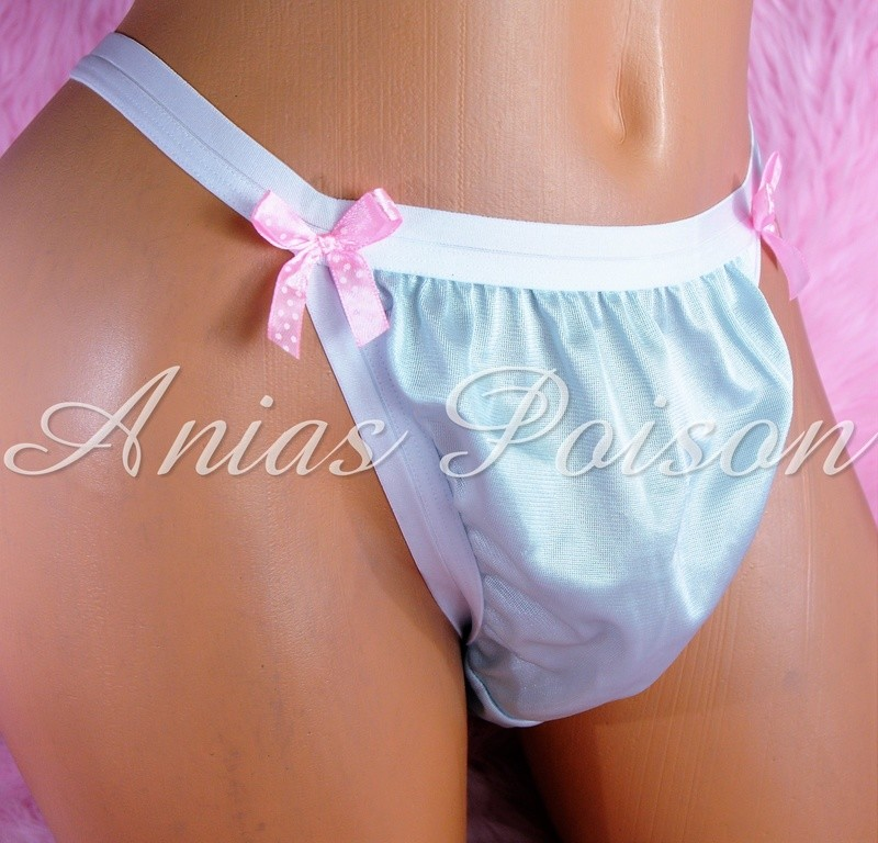 NEW COLORS ADDED!!! Ania's Poison MANties Rare Vintage Style string bikini soft ALL NYLON TRICOT Sissy panties for men S - XXL