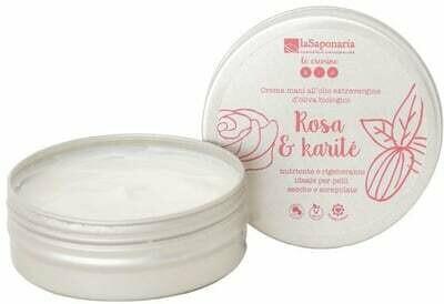 Crema mani rosa e karitè La Saponaria
