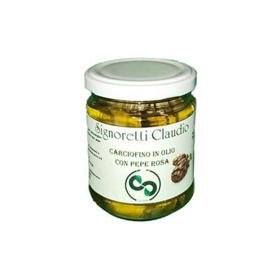 Carciofino in olio con pepe rosa Signoretti Claudio 180gr