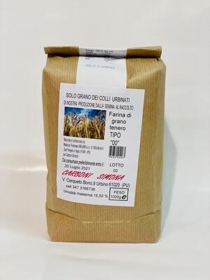 """Farina di grano tenero TIPO """"00"""" CARBONI SIMONA 1 kg"""