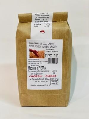 """Farina di grano tenero TIPO """"1"""" CARBONI SIMONA 1 kg"""