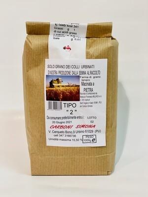 """Farina di grano tenero TIPO """"2"""" CARBONI SIMONA 1 kg"""