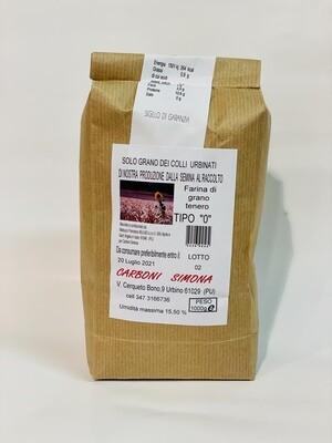 """Farina di grano tenero TIPO """"0"""" CARBONI SIMONA 1 kg"""
