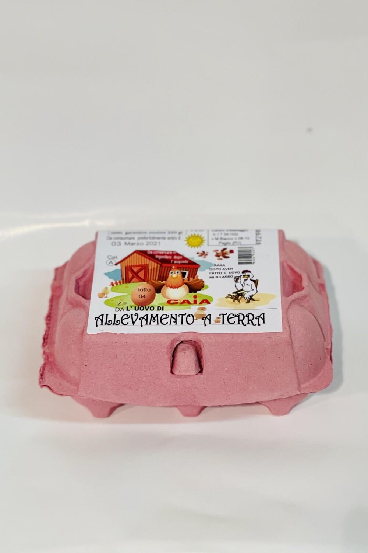 """GAIA 6 uova da allevamento a terra """"La Montanari"""""""