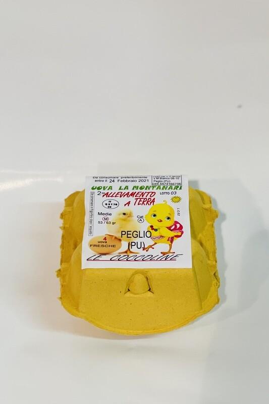 LE COCCOLINE 4 uova da allevamento a terra