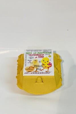"""LE COCCOLINE 4 uova da allevamento a terra """"La Montanari"""""""