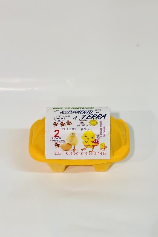 LE COCCOLINE 2 uova da allevamento a terra