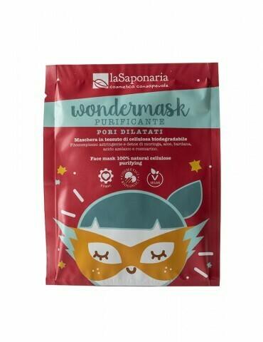 "Wondermask - maschera in tessuto purificante ""La Saponaria"""