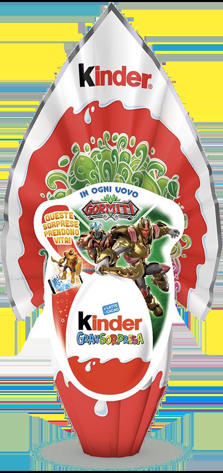 "Uovo di Pasqua Kinder GranSorpresa bimbo ""Gormiti"" 150gr"