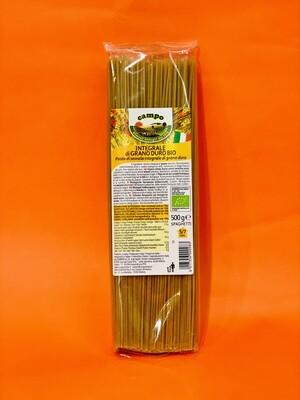 """Spaghetti di semola integrale di grano duro BIO """"Coop. Campo"""" 500gr"""