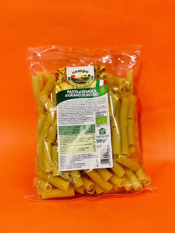 """Tortiglioni di semola di grano duro BIO """"Coop. Campo"""" 500gr"""