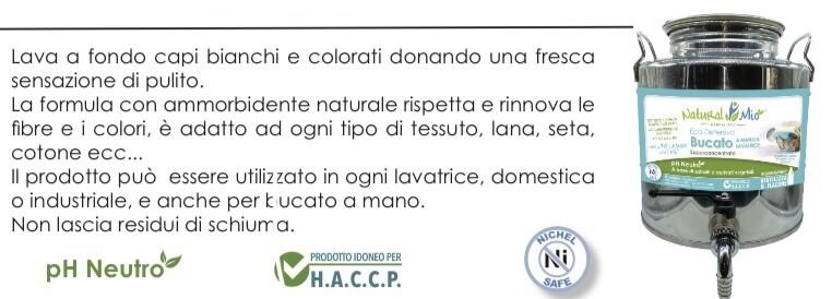 """Eco Detersivo BUCATO A MANO E LAVATRICE 38 lavaggi superconcentrato """"NaturalMio"""""""