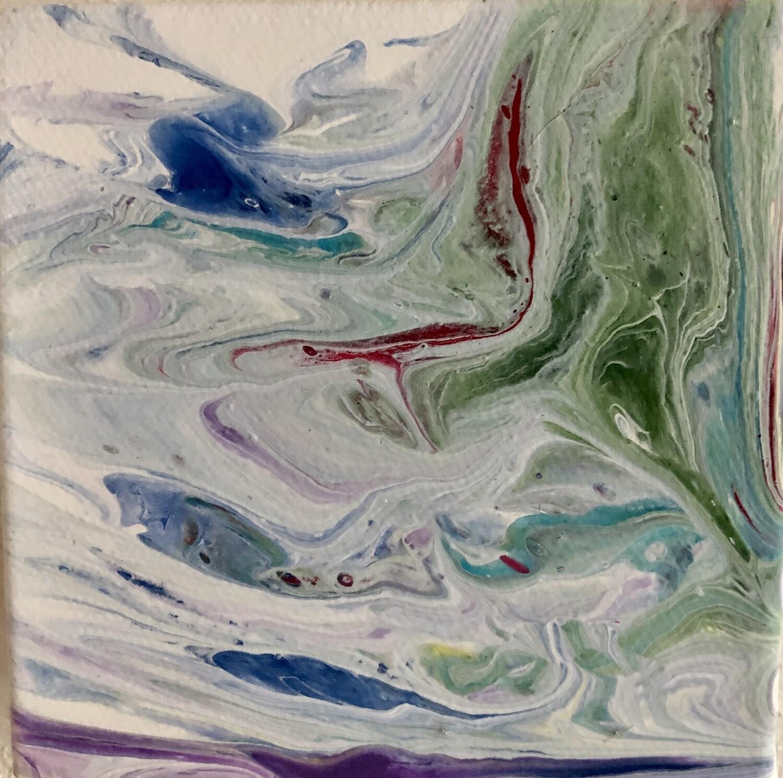Vibrant Acrylic Pour 33